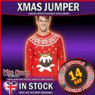 "CHRISTMAS FANCY DRESS # Christmas Pudding Jumper, Light Up, Red MED 38""-40"""